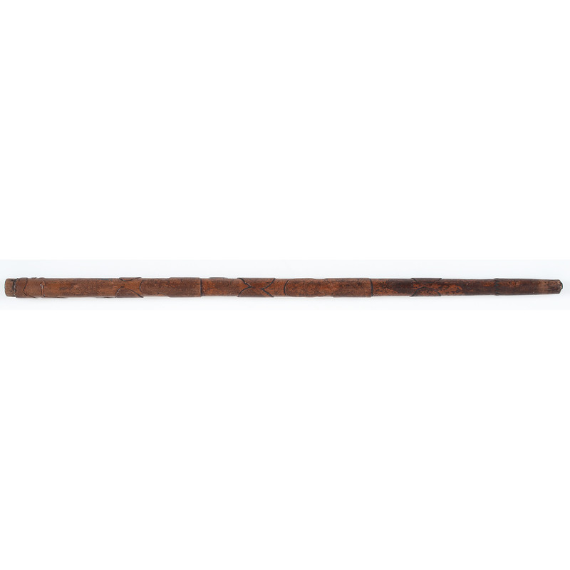 Folk Art Carved Cane Featuring Spanish American War Heroes Dewey, Schley, Miles and More