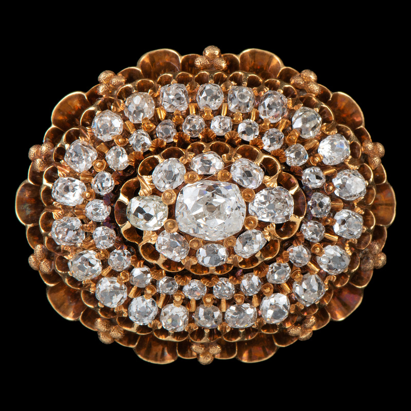 18k Gold Victorian Diamond Brooch