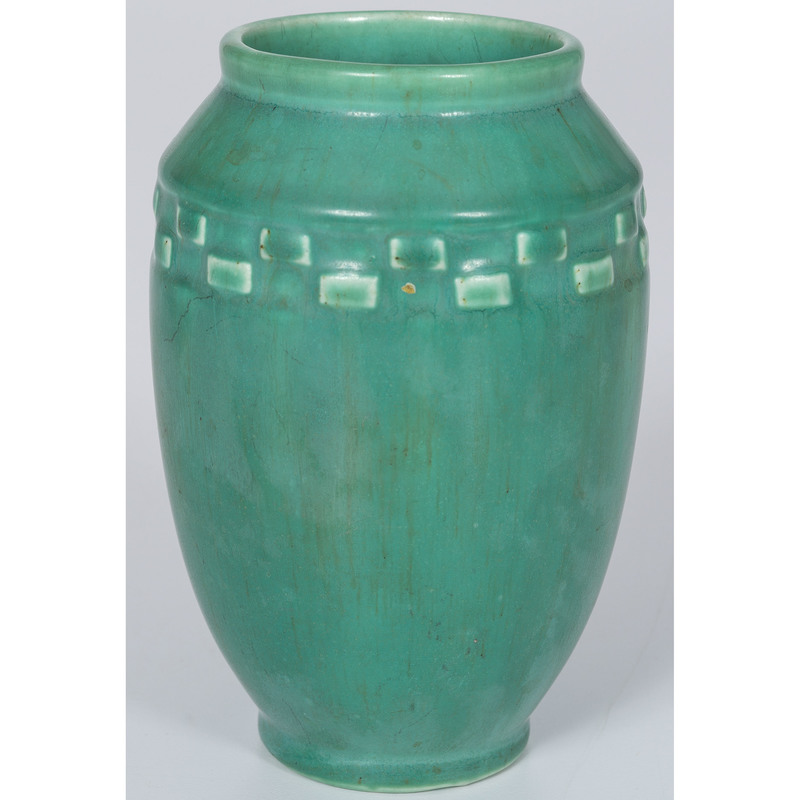 Rookwood Pottery Vase in Green Vellum Glaze