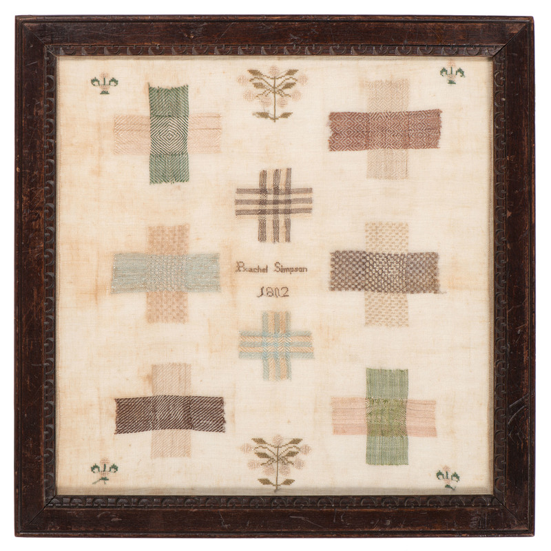 English Darning Sampler by Rachel Simpson, 1802