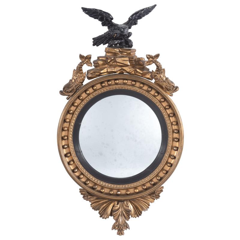 English Regency Giltwood Bullseye Mirror