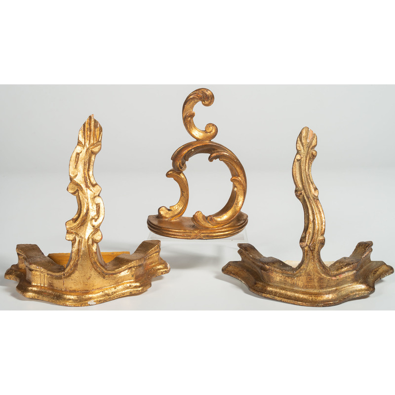 Continental Wooden and Plaster Gilt Wall Shelves