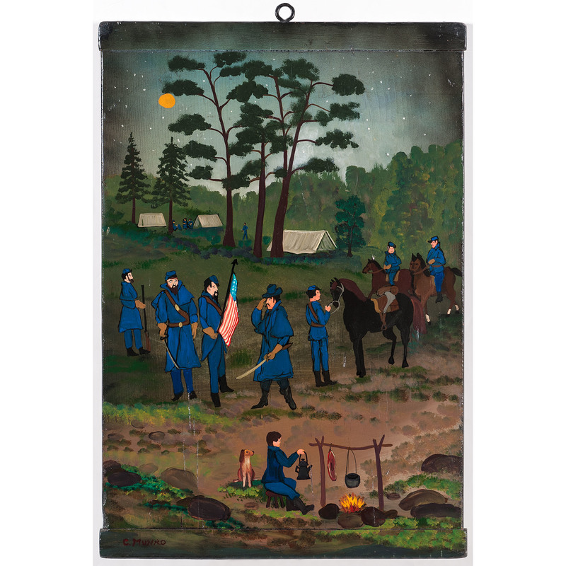 Charles Munro, Folk Art Civil War Scene, The Picket