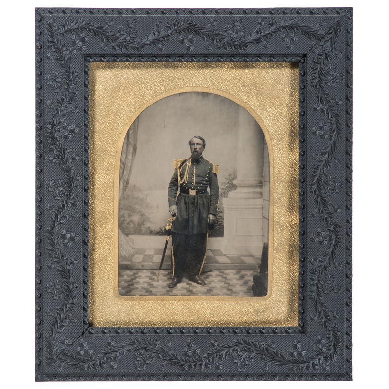 Major Michael Schmitt, Independent Battalion New York Infantry, Civil War Collection Featuring Full Plate Ambrotype, Albumen Photographs, Insignia, and More