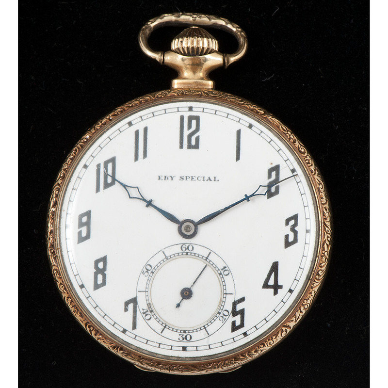 Eby Special Open Face 14k Gold Pocket Watch
