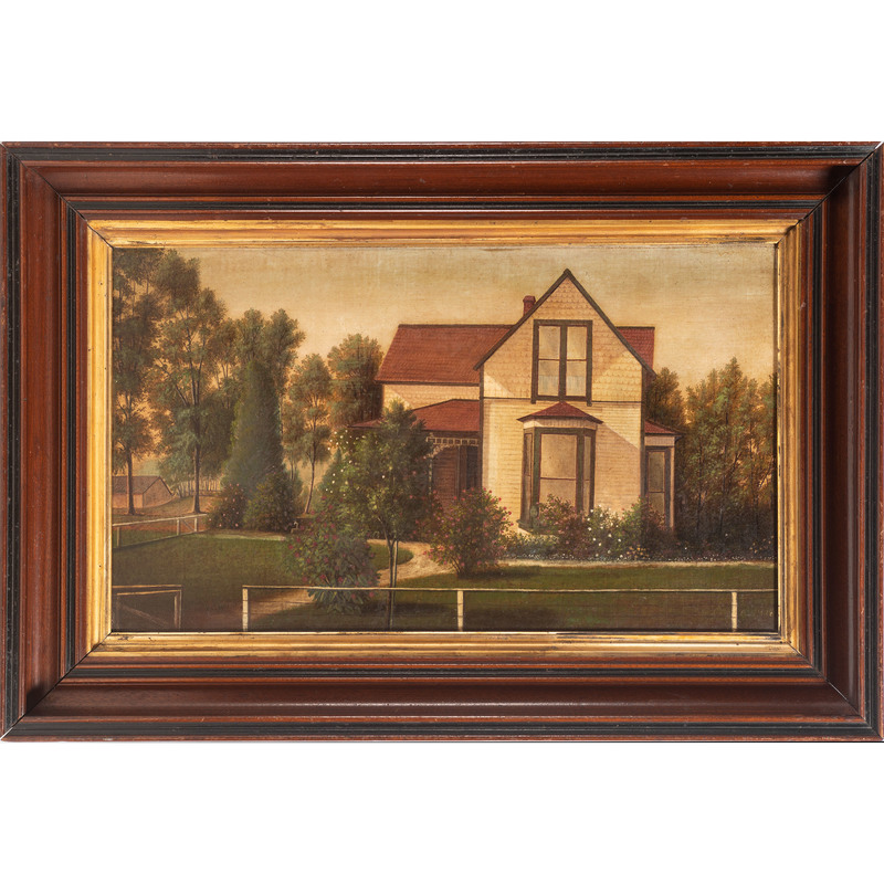American School, Painting of a Home and Garden