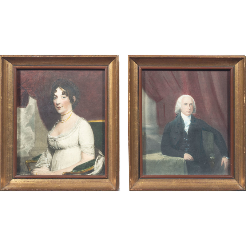 Portraits of James and Dolly Madison