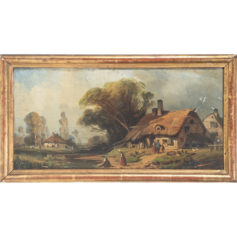 Dutch School, Landscapes with Wind Mill and Cottage