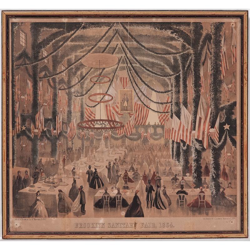 1864 Brooklyn Sanitary Fair Civil War Lithograph