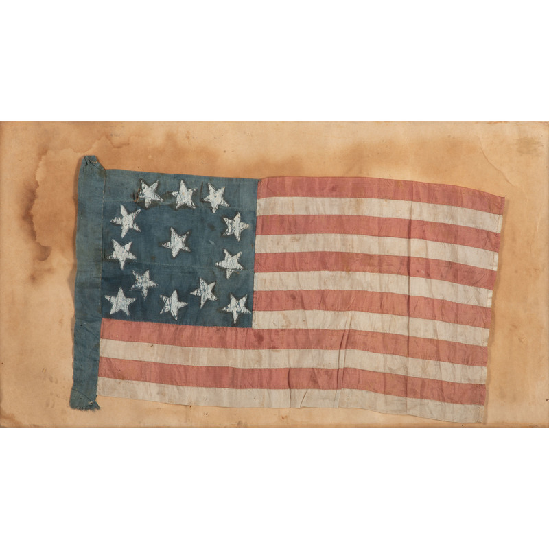 13-Star US Flag with Unusual Star Pattern