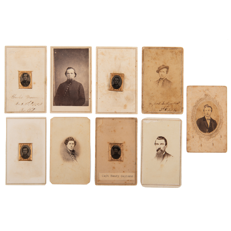 Ohio 3rd Volunteer Cavalry, Large Collection of Tintypes, CDVs, Ribbons, Medals, and More