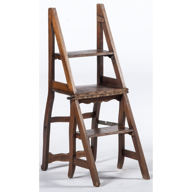 French Folding Library Step Chair