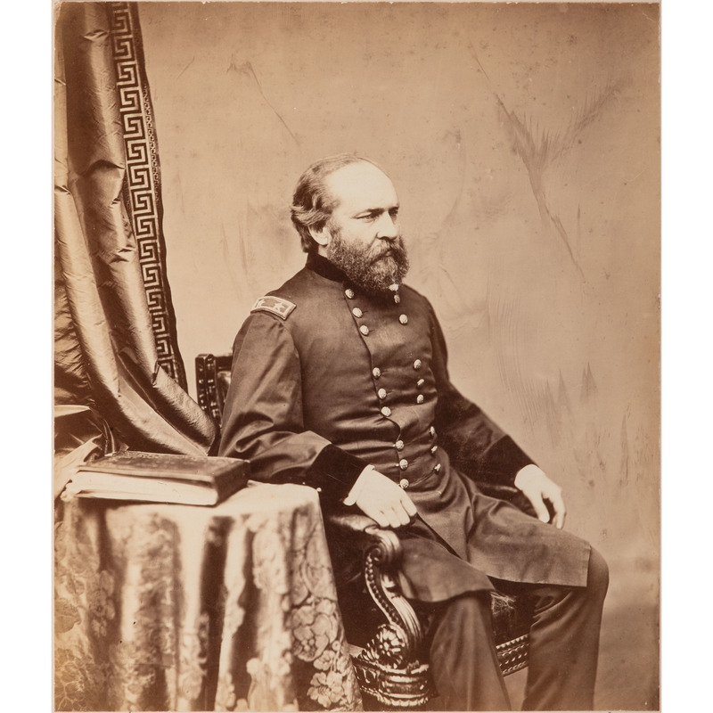 Mammoth Albumen Photograph of James A. Garfield as Major General, by Alexander Gardner, October 1863