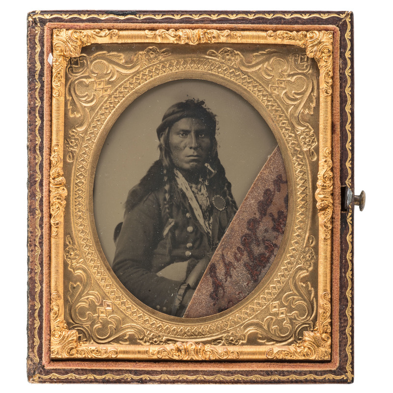 Sixth Plate Ambrotype of an American Indian, Possibly