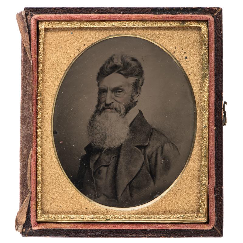 John Brown, Sixth Plate Melainotype After Black's Vignette Negative, Ca 1860