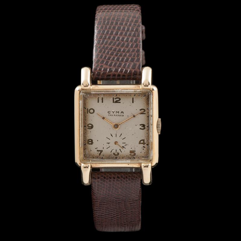 Cyma Tavannes 14k Square Wristwatch