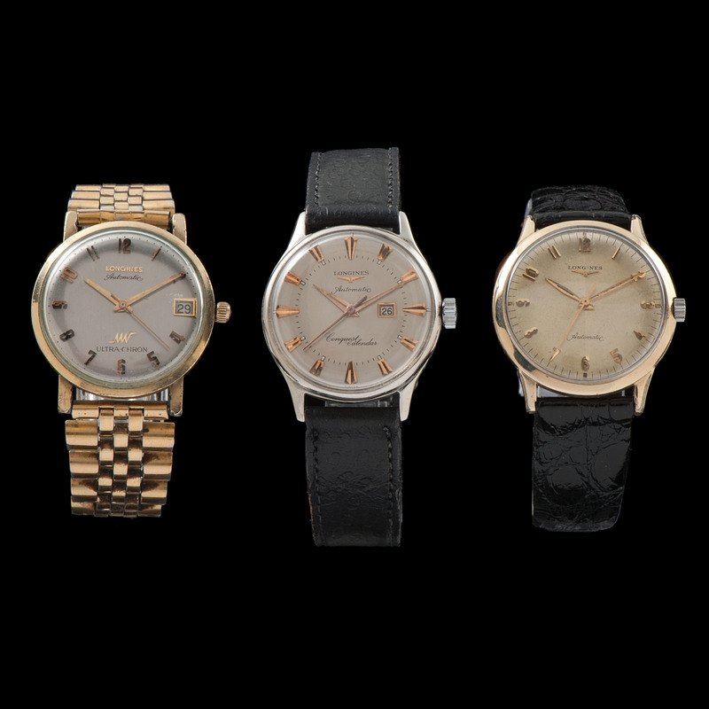 Longines Wristwatches, Lot of 3