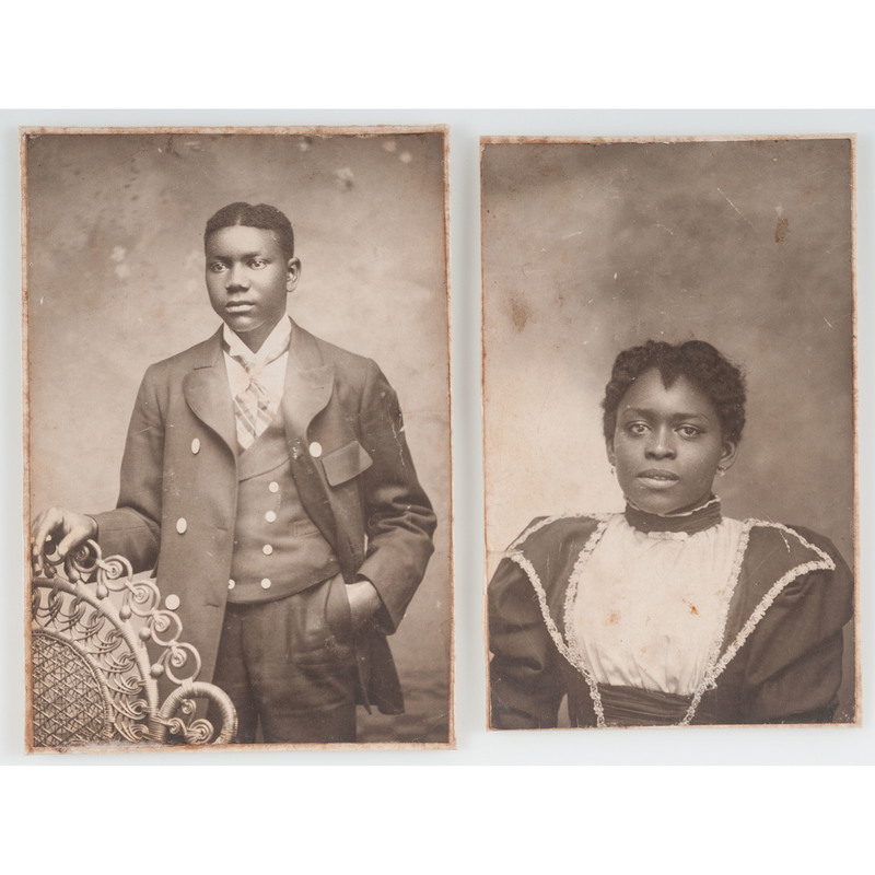 Pair of Photographs of African American Subjects