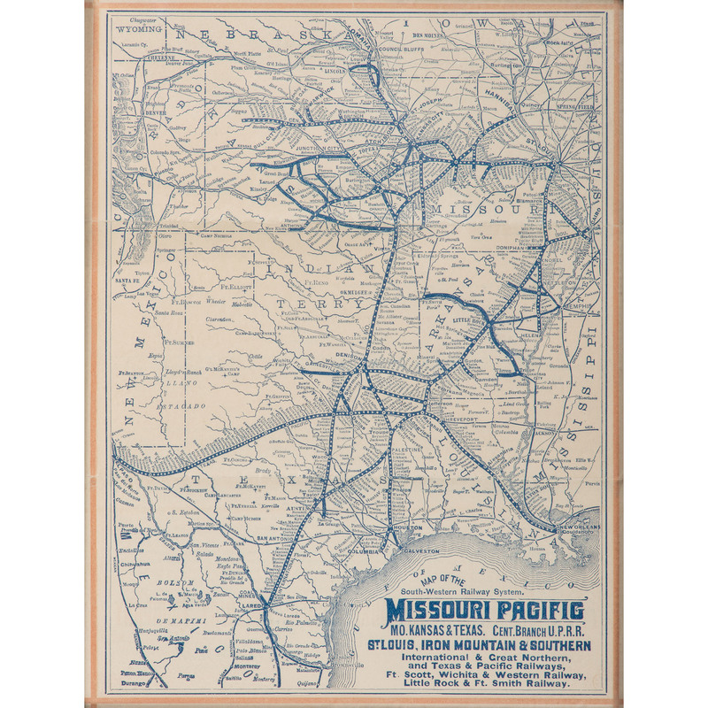 Two Rare Railroad Maps from the Union Pacific and Missouri ...