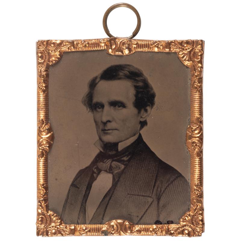 Jefferson Davis Sixteenth Plate Abbott Tintype