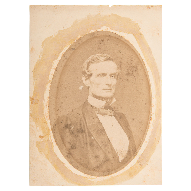 Jefferson Davis, Only Known War-Date Large Format Photograph by Minnis & Cowell, Richmond, Virginia