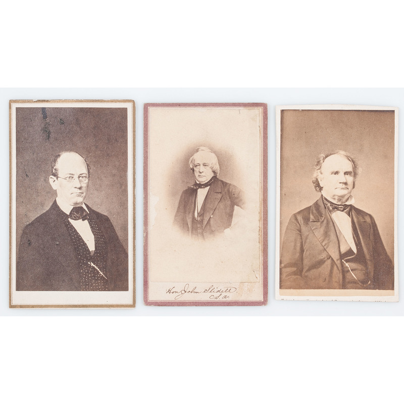Civil War-Era CDVs of Southern Politicians, Incl. Letcher, Slidell, and Mason