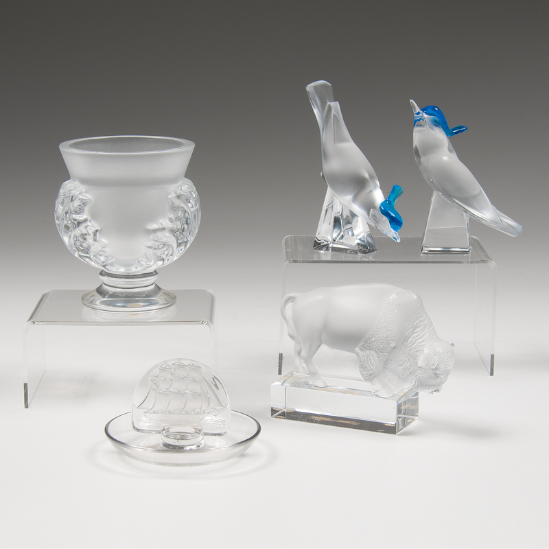 Lalique Paperweights and Vessels
