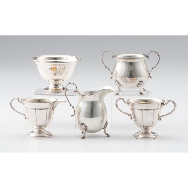 Sterling Creamers and Sugar Bowls
