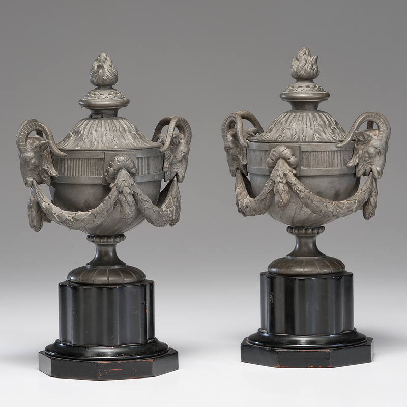 Neoclassical Cast Metal Urns
