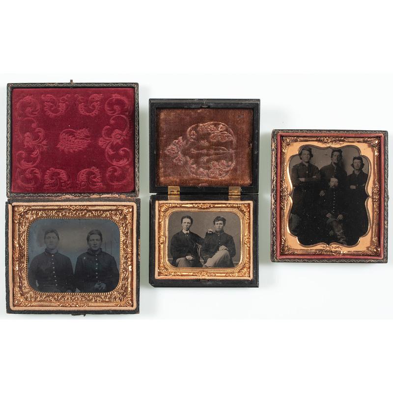 Three Civil War Tintypes of Union Pards