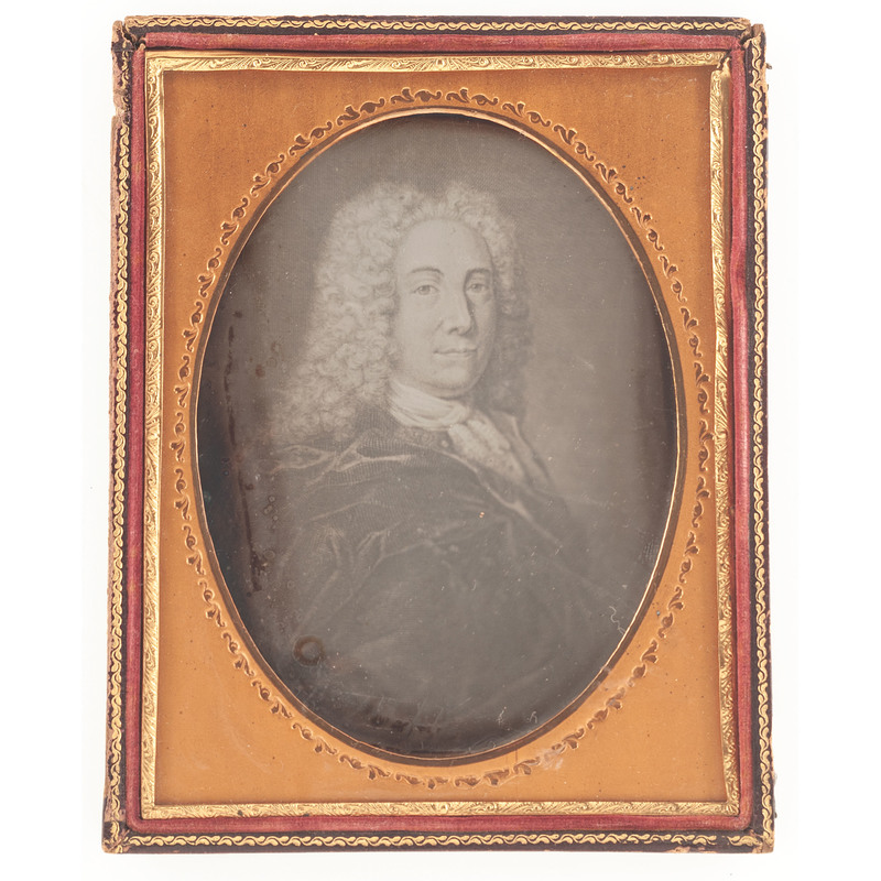 Half Plate Daguerreotype Portrait of Colonial Merchant Peter Faneuil, by Whitehurst