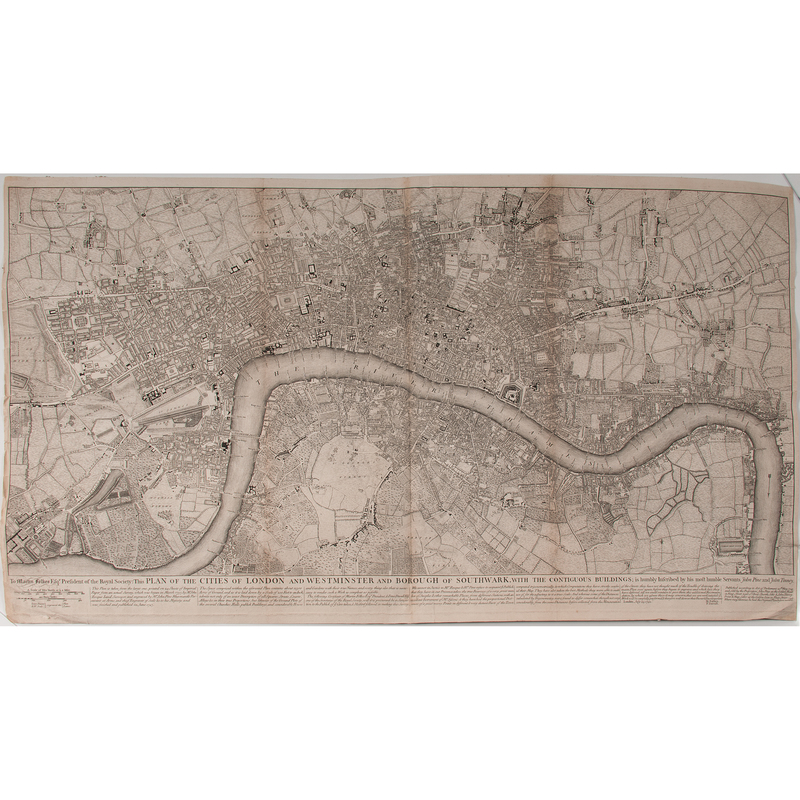 John Pine and John Tinney Plan of the Cities of London and Westminster and Borough of Southwark...