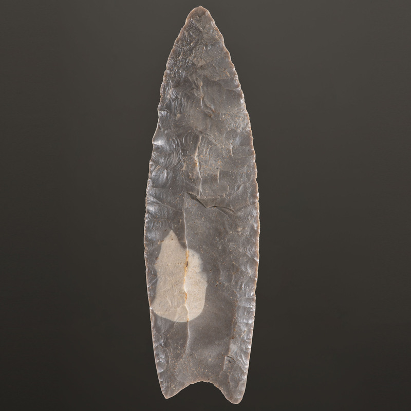 A Large Hornstone Clovis Point, 5-1/4 in.