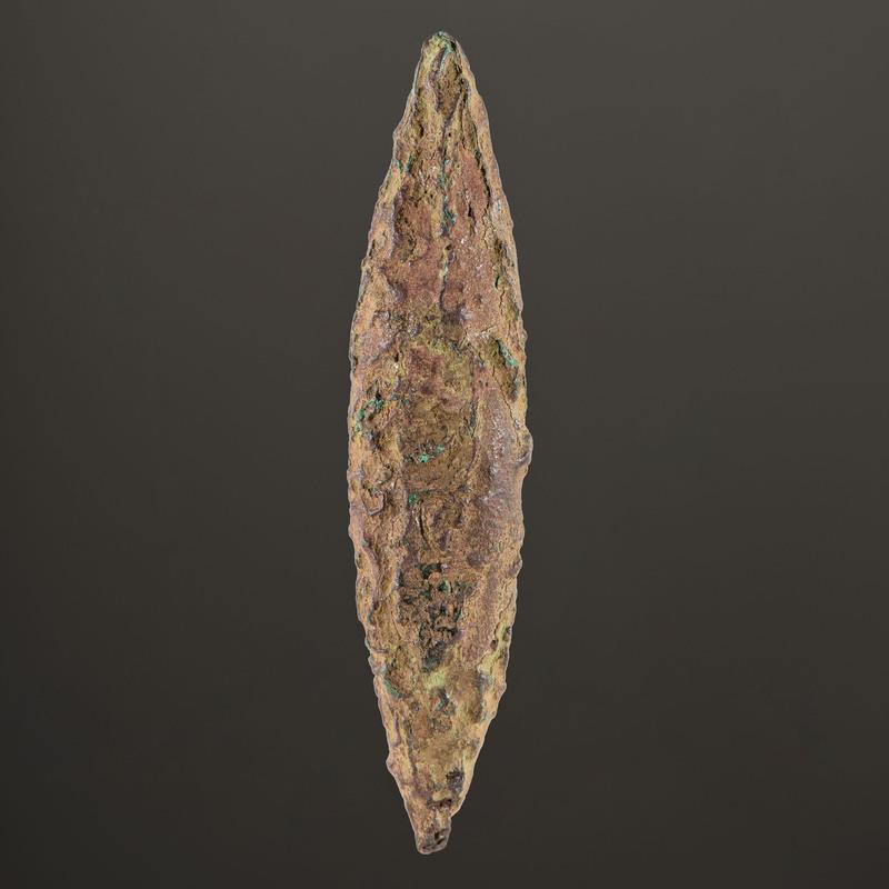 An Old Copper Culture Plummet, 3 in.