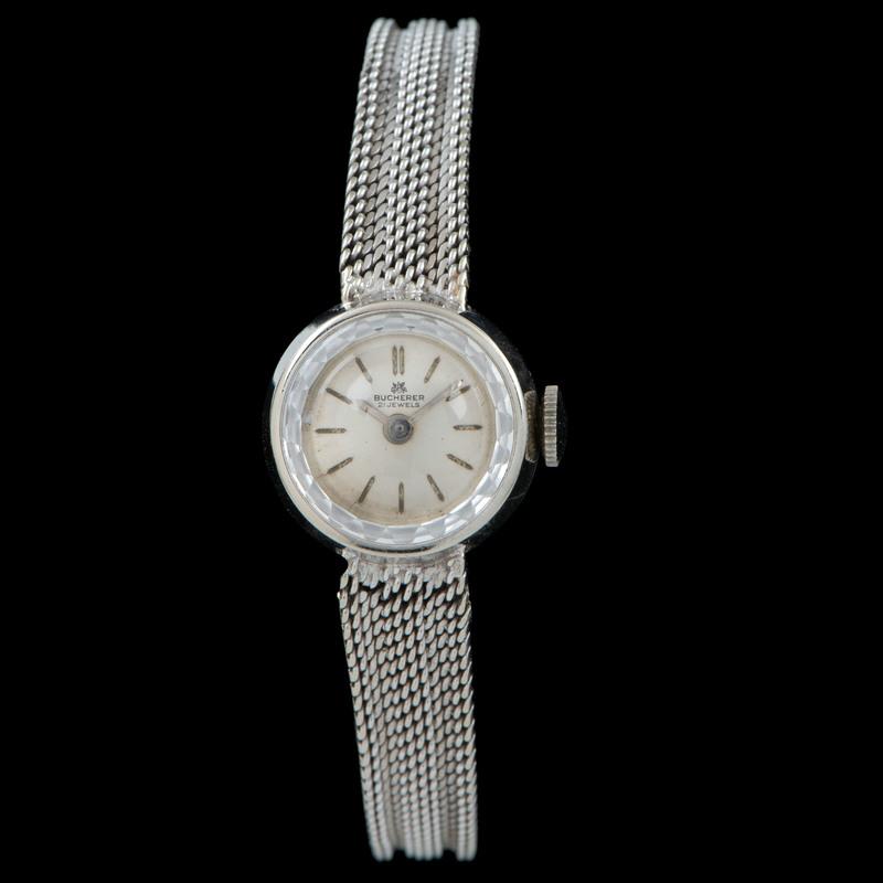 18k White Gold Bucherer Wrist Watch