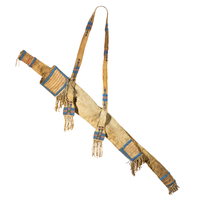 Sioux Beaded and Quilled Buffalo Hide Bowcase and Quiver, From the James B. Scoville Collection