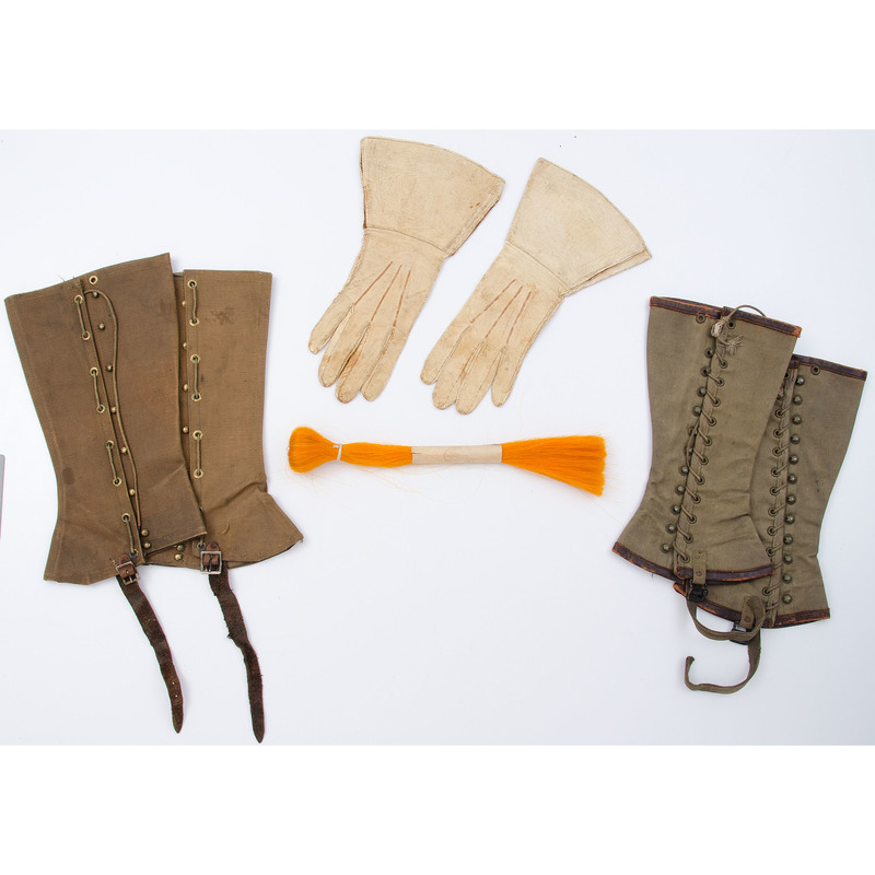 Pattern 1913 Calvary Pants with Four Sets of Leggings, Pair of Gauntlets, and a Plume