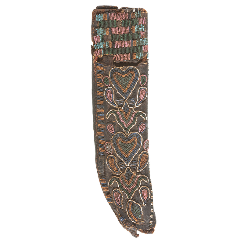Sioux Beaded Hide Knife Sheath, From the James B. Scoville Collection