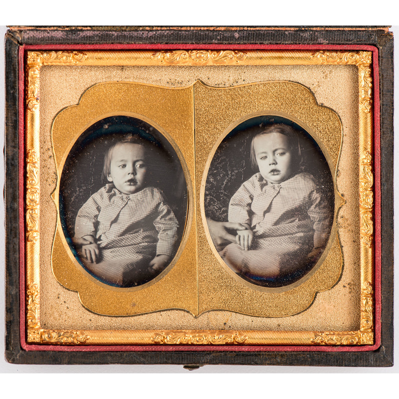 Ninth Plate Stereodaguerreotype of a Young Child