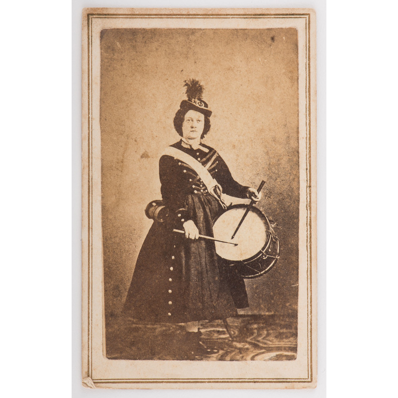 CDV of Vivandiere Mrs. Sidney Brown, by Gurney