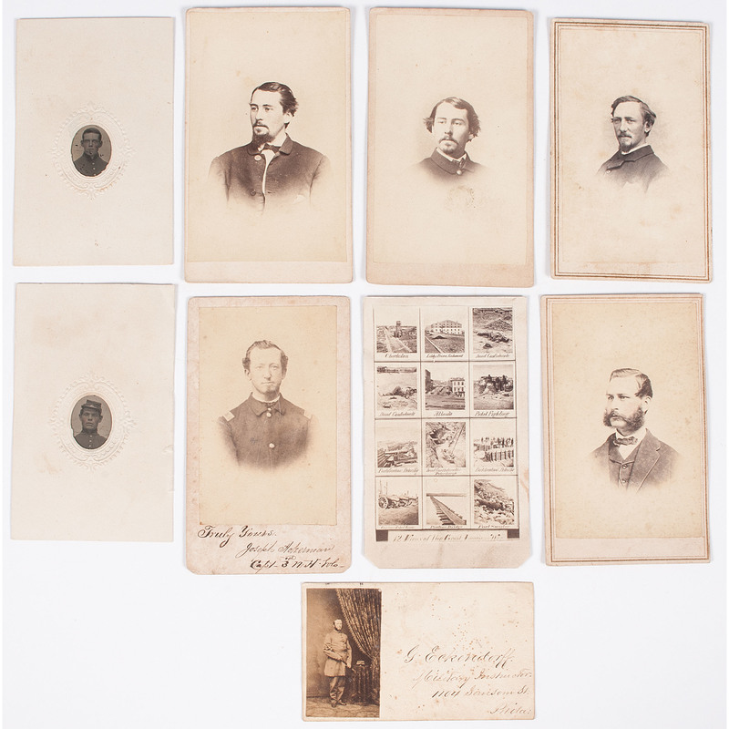 Civil War CDV Collection Featuring Union Officers, Plus, Lot of 9