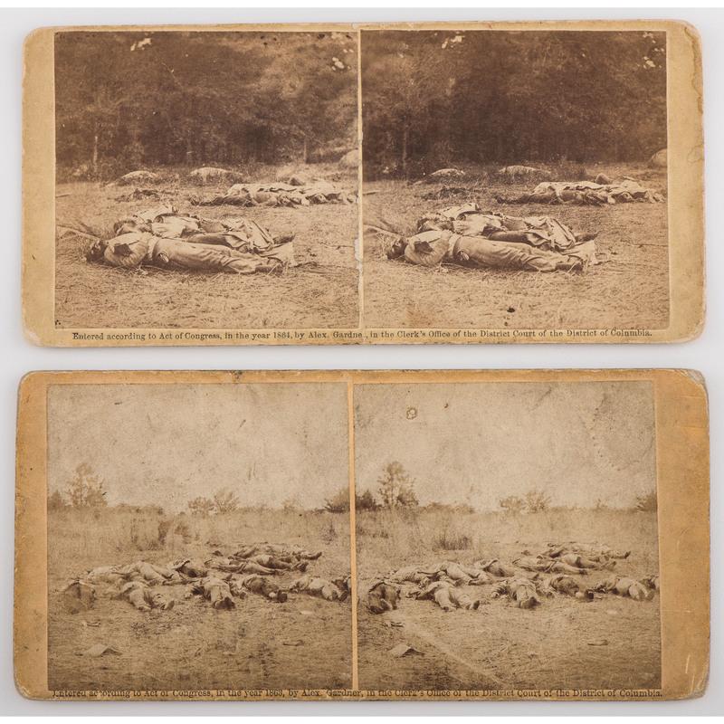 Alexander Gardner Civil War Stereoviews of Confederate Dead at Gettysburg