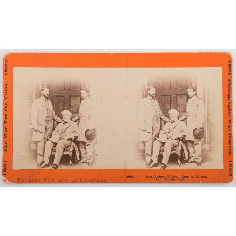 Stereoview of Robert E. Lee and Staff on Richmond, VA, Porch