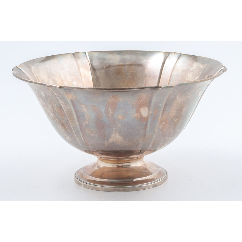 Arthur Stone Sterling Footed Bowl