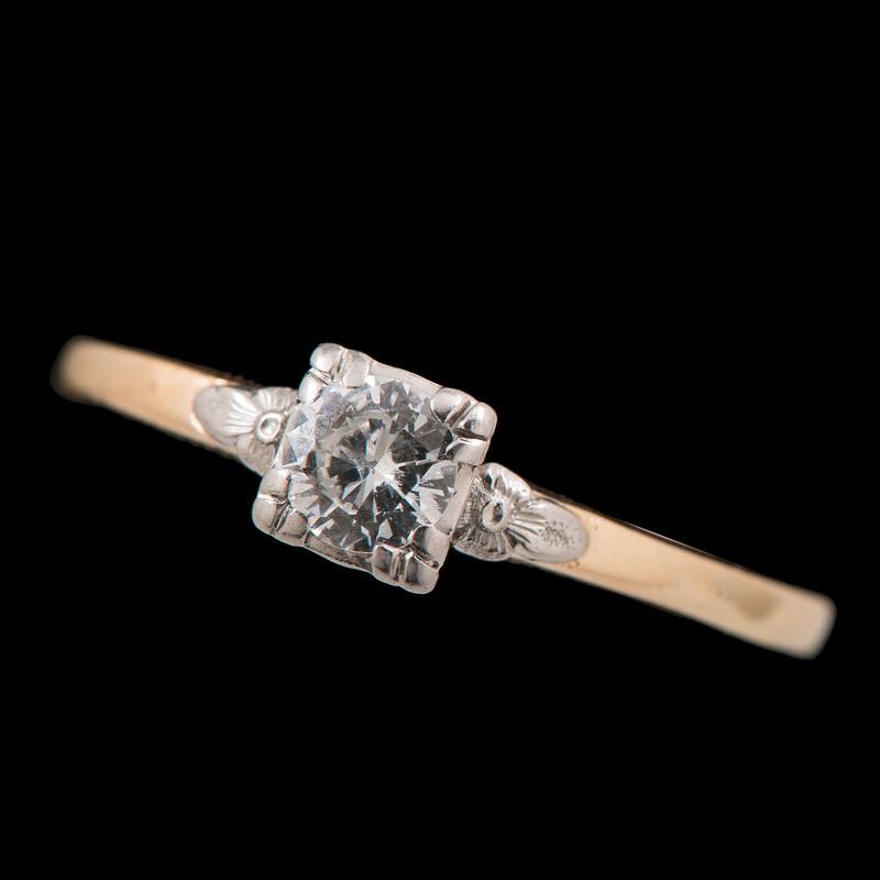 14k Bicolor Gold Diamond Ring