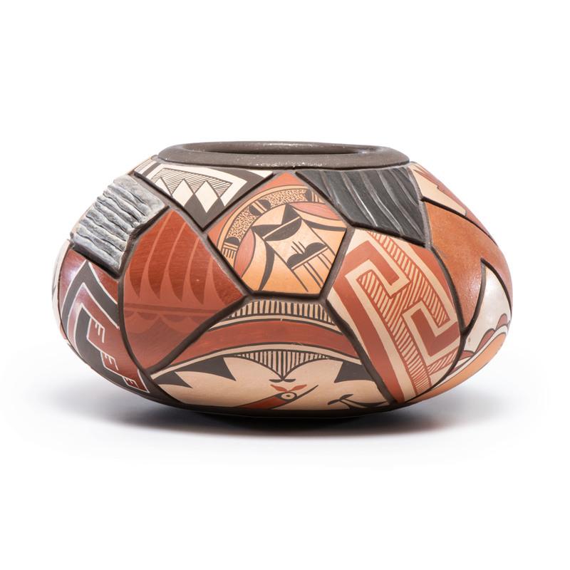 Daryl Candelario (San Felipe, 20th century) Pottery Seed Jar