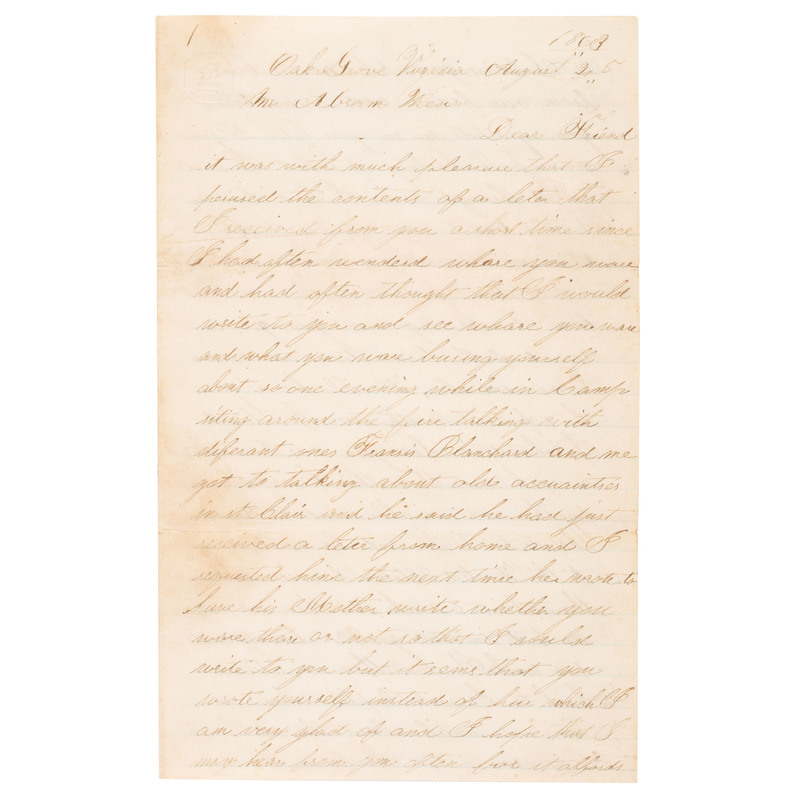 Private Allen Rice, 6th Michigan Cavalry, Exceptional 20pp Letter Describing Gettysburg, Monterey Pass, and More
