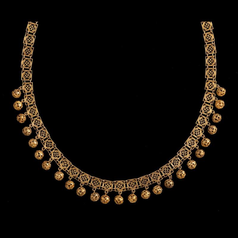 14k Gold Filigree Necklace