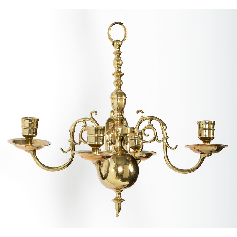 Brass Sconces and Chandeliers