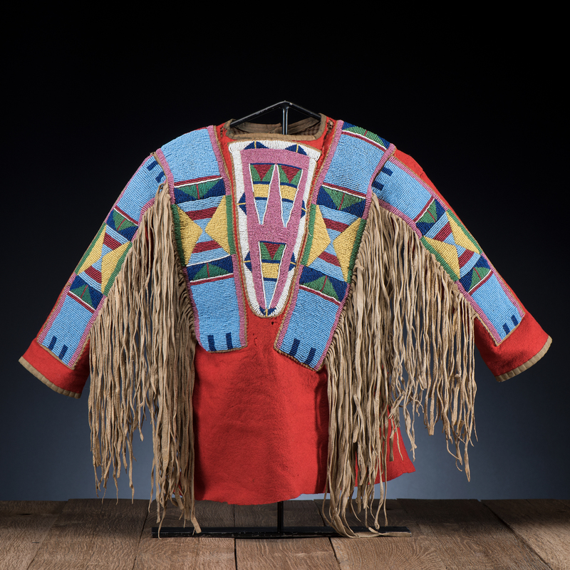 Apsaalooke (Crow) Child's Beaded Wool Shirt, From the Stanley B. Slocum Collection, Minnesota
